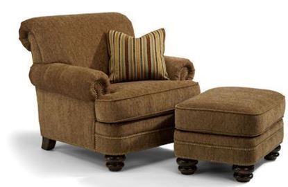 Picture of Bay Bridge Fabric Chair & Ottoman Model 7791-10-08
