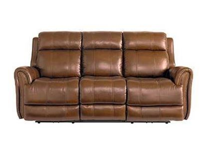 Marquee Umber Leather Power Reclining Sofa