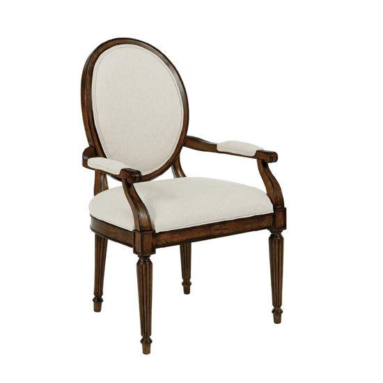 Oval Back Arm Chair (Tobacco)