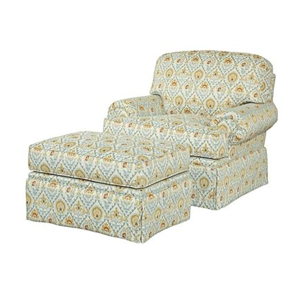 Baltimore Chair & Ottoman (616-84-80)