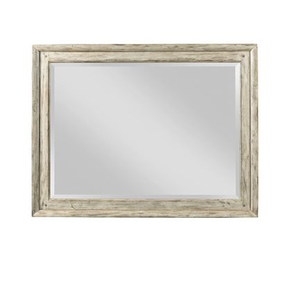 Weatherford Landscape Mirror with cornsilk finish