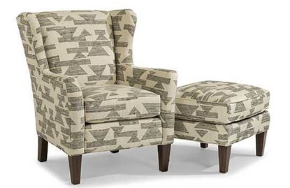 Ace Fabric Chair & Ottoman