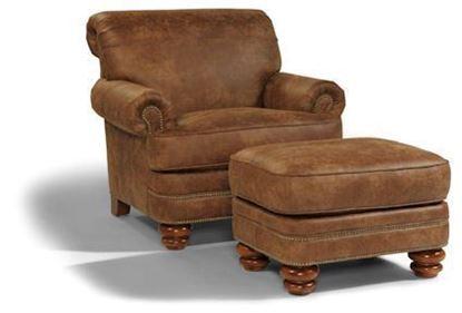 Bay Bridge Leather Chair & Ottoman B3791-10 from Flexsteel