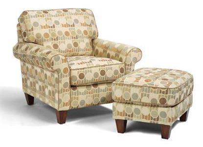 Westside Fabric Chair & Ottoman