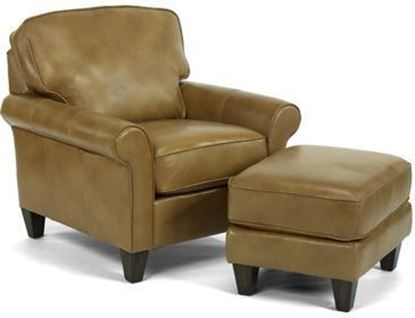 Westside Leather Chair & Ottoman
