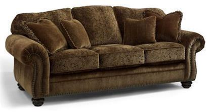 Bexley Melange Sofa w/nails