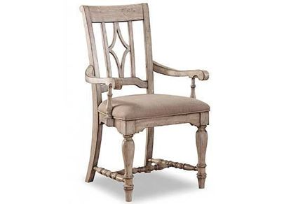 Plymouth Upholstered Arm Dining Chair (W1147-841)