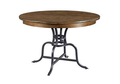 The Nook Maple - Round Dining Table with Metal Base 664-44MP