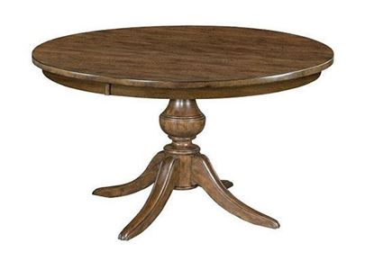 The Nook Maple - ROUND DINING TABLE WITH WOOD BASE 664-54WP