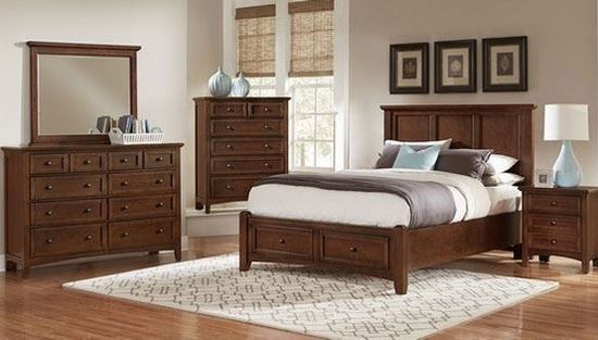 Bonanza Bedroom Collection in Cherry Finish