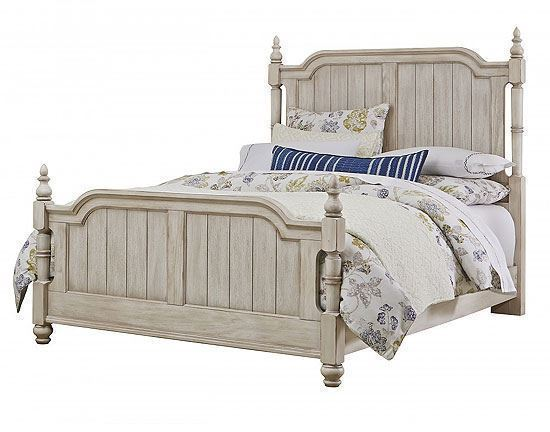 Arrendelle Poster Bed in Rustic White finish