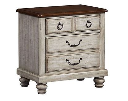 Arrendelle Nightstand with Rustic White finish with a Cherry top