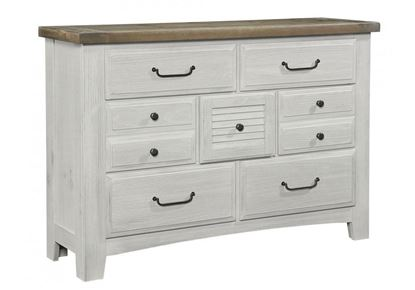 Sawmill 7 Drawer Dresser in an Alabaster finish