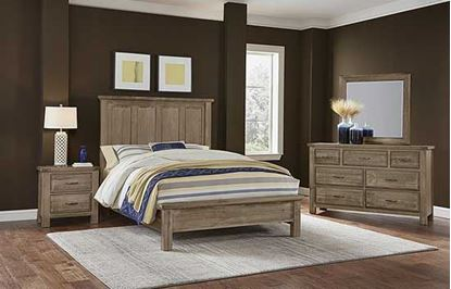 Maple Road Mansion Bedroom in a Weathered Grey finish