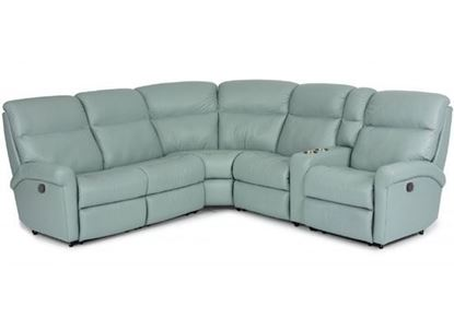 Davis Leather Reclining Sectional (3902-SECT)