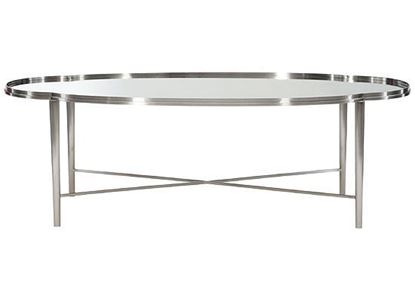 Allure Metal Oval Cocktail Table  399-013 by Bernhardt furniture