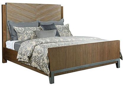 Picture of AD Modern Synergy - Chevron Maple Queen Bed 700-313R