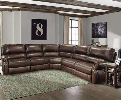 Hawthorne Leather Sectional Group
