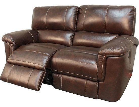 Hitchcock Cigar Leather Loveseat