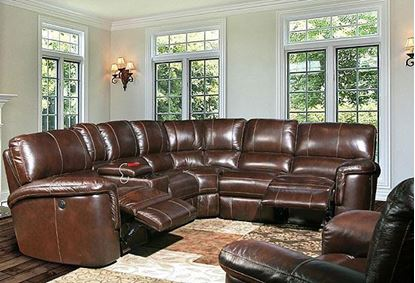 Hitchcock Cigar Leather Sectional