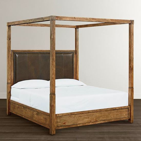 Woodhaven Leather Poster Bed