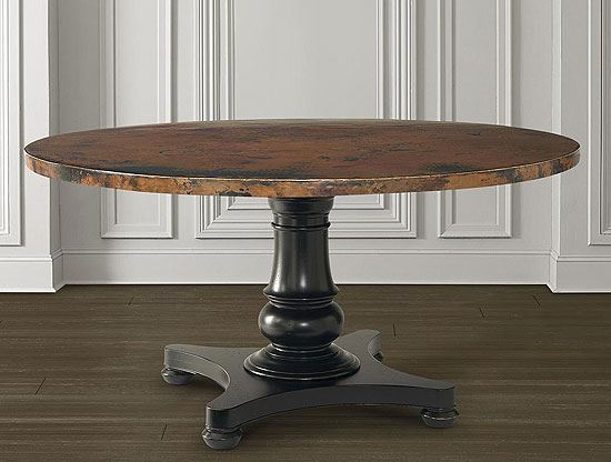 Custom Dining Round Copper Dining Table