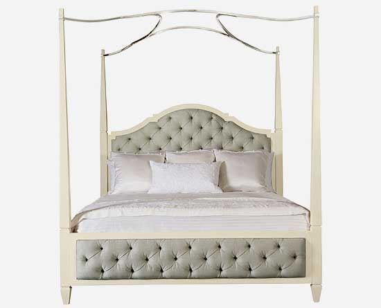 Savoy Place Upholstered Poster Bed w/ Optional Canopy