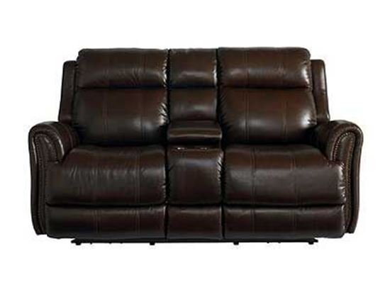 Marquee Leather Power Reclining Loveseat