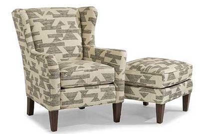 Ace Fabric Chair & Ottoman