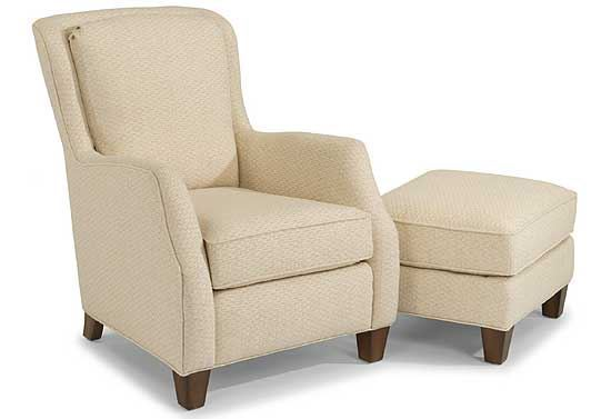 Allison Fabric Chair & Ottoman