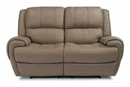 Nance Power Reclining Leather Loveseat