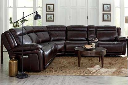 3706 - Evo Club Level Sectional in Reddish Brown