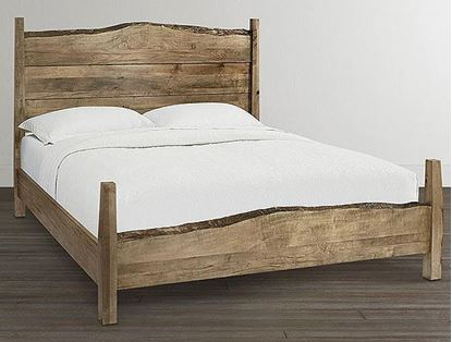Bassett - Bench*Made Maple Live Edge Panel Bed