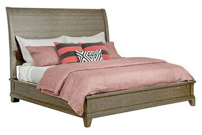 Plank Road: Eastburn Sleigh Bed with Stone finish