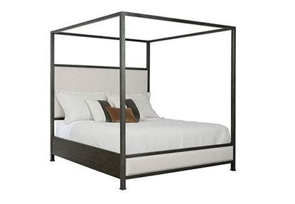 Plank Road: Shelley Canopy Bed with Charcoal finish