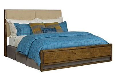 PatterMaker Upholstered Panel Bed with Low Panel Footboard