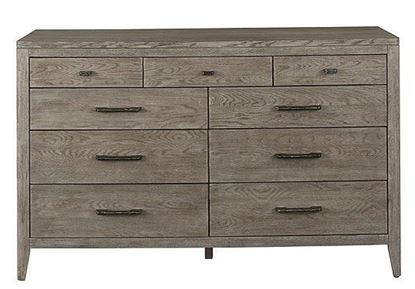 Tobago Nine Drawer Dresser with Lemon Grass finish