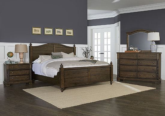 Scotsman Co. American Heirloom Bedroom w/ High Poster Footboard