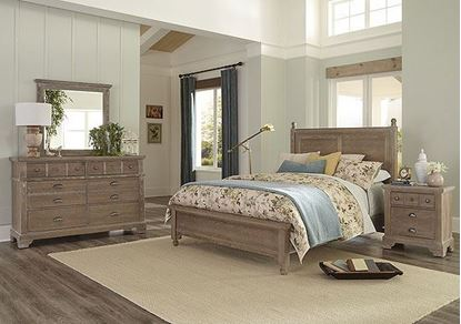 Laurel Mercantile Home Collection Bedroom with Poster Bed
